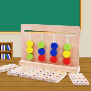 Bébé Jouet Montessori Quatre Couleurs Jeu Correspondance Des Couleurs pour La Petite Enfance Éducation Formation Préscolaire Apprentissage Jouets SH4579884-20