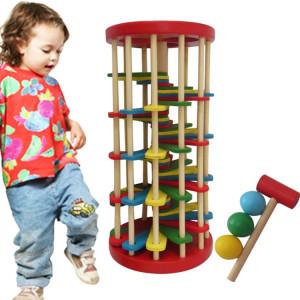 Jouets pour enfants Jouets éducatifs Jouets en bois Couleur Knock Ball De L'échelle Tables Jouets Développement du renseignement SH45811373-20