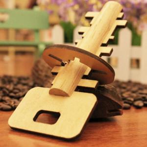 Jouets éducatifs en bois démontables de puzzle pour la clé de déverrouillage de serrure de jouet d'intelligence d'enfants SH45851928-20
