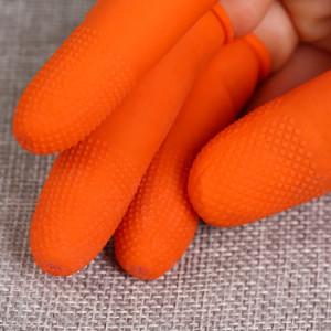 Gants de protection en latex 100 PCS antistatiques antidérapants durables, taille: M, 2,6 * 6,3 cm (orange) SH588E639-20