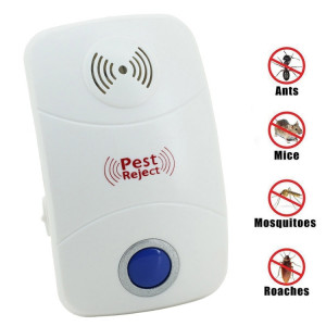 Répulsif de contrôle de lutte antiparasitaire ultrasonique électronique de rat de moustique avec la lumière de LED, prise du RU, AC90V-250V (blanc) SR4600585-20