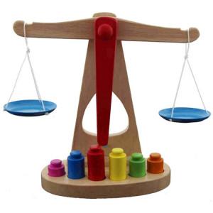 La balance en bois d'éducation précoce d'éducation des enfants contrebalance les jouets éducatifs de poids, taille: 24.5 * 23.5 * 9.5cm SH5185474-20