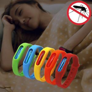 5 PCS anti-moustique Silicone Repellent Bracelet Boucle Wristband Bugs Away, Convient pour les enfants et les adultes, Longueur: 23cm, Aléatoire Couleur Livraison S55666621-20