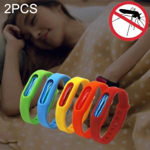 2 PCS anti-moustiques anti-moustiques répulsifs en silicone, boucle de poignet, convient aux enfants et aux adultes, longueur: 23 cm, livraison de couleurs aléatoires SH6662191-20