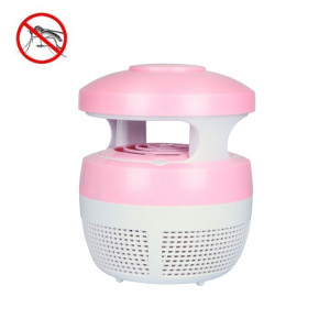 5W 6 LED Aucune radiation Mute photocatalytique 7-fan Fan USB Mosquito Killer Lamp (rose) S5874F87-20