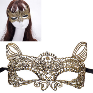 Mascarade halloween fête danse sexy lady dentelle bronzante masque roi chat (or) SH949J1900-20