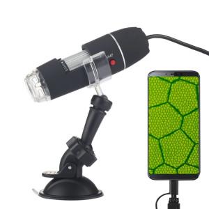 Microscope numérique USB 2 en 1 avec capteur d'image 1600X avec loupe 1600X avec 8 DEL et support professionnel SH60951025-20