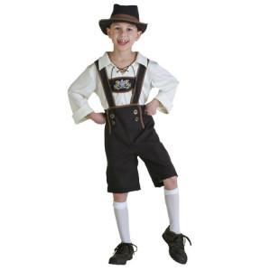 Costume Halloween Costume de bière pour les enfants Costume Oktoberfest à l'Angleterre Style Cosplay, Taille: L, Tour de taille: 76cm, Longueur de robe: 59cm, Pantalon long: 46cm, Hauteur suggérée: 115-125cm SH62211732-20
