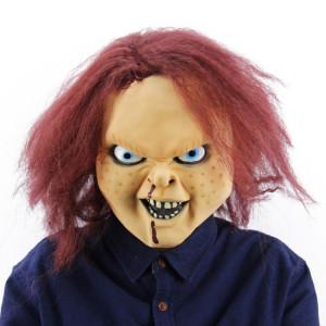 Festival Halloween Festival Latex Ghost Baby masque effrayé Couvre-chef, avec des cheveux SH6908235-20