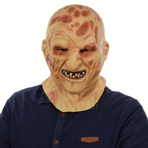 Halloween Festival Fête Latex Brûler Masque Visage Squelette Masque Effrayé Couvre-chef SH69271061-20