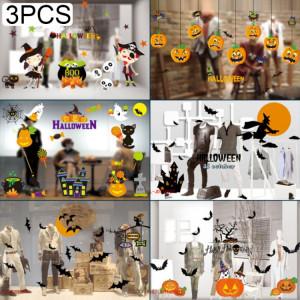 Le PVC de décorations de 3 PCS Halloween a personnalisé des autocollants électrostatiques en verre de bricolage, livraison aléatoire de style SH6955837-20