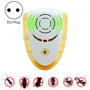 6W Électronique Ultrasons Électromagnétique Anti Mosquito Rat Insecte Pest Repeller avec Lumière, UE Plug, AC 90-240 V (Jaune) S638AY1491-20