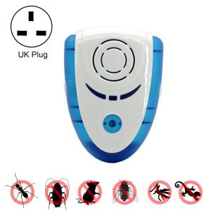 6W Électronique Ultrasons Électromagnétique Anti Moustique Rat Insectes Antiparasitaire Répulsif avec Lumière, UK Plug, AC 90-240 V (Bleu) S638CL601-20