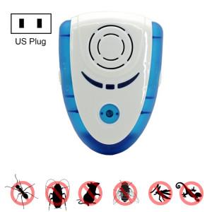 6W Électronique ultrasonique ultrasonique Anti Moustique Insectes Rat Répulsif Antiparasitaire avec Lumière, US Plug, AC 90-240 V (Bleu) S638DL852-20