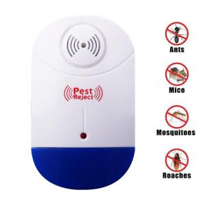 Répulsif ultrasonique électronique de contrôle de lutte antiparasitaire de rat de moustique avec la lumière de LED, prise des USA, AC90V-250V (blanc + bleu) SR7946206-20