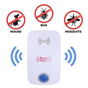 Répulsif ultrasonique électronique de contrôle de parasite de rat de moustique avec la lumière de LED, prise des USA, AC90V-250V (blanc) SR947W1739-20