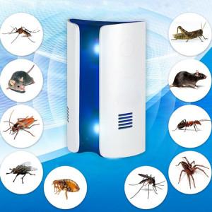 Vagues électromagnétiques de conversion de fréquence double onde anti-moustiques répulsif ultrasonique répulsif ultrasonique, prise britannique (blanc) SV76WB192-20
