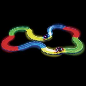 Nouvelles pistes magiques DIY Flex Glow Electric LED Light Up Racing Car Funny Briques Jouets éducatifs pour enfants avec 220 PCS Glow Tracks & 1 LED voiture allumée SH88001123-20
