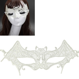 Mascarade halloween fête danse sexy lady masque de chauve-souris en dentelle (blanc) SH964W1054-20