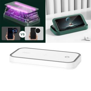 ROCK Smartphone Sterilizer UV Light Désinfection Boîte de nettoyage avec fonction de support (Blanc) SR449W1642-20