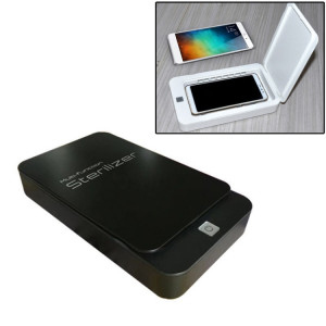 Multifonctionnel Téléphone Mobile Masque Visage Désinfection UV Aromathérapie Lampe Ultraviolette Stérilisateur Désinfectant Boîte (Noir) SH068B1048-20