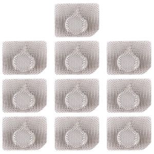 10 PCS Microphone / lampe de poche maille anti-poussière pour iPhone 11 Pro Max / 11 Pro / 11 (blanc) SH065W837-20