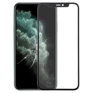 Écran avant Lentille en verre externe + OCA Adhésif optiquement transparent pour iPhone 11 Pro Max (Noir) SH007B1952-20