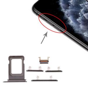 Plateau pour carte SIM + Plateau pour carte SIM + Touche latérale pour iPhone 11 Pro Max / 11 Pro (Noir) SH013B944-20
