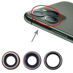 3 lunette arrière de caméra PCS avec cache d'objectif pour iPhone 11 Pro / 11 Pro Max SH00171975-20