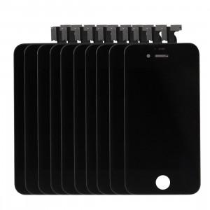 10 PCS iPartsAcheter 3 en 1 pour iPhone 4 (LCD + Frame + Touch Pad) Assemblage de numériseur (Noir) S162BT69-20