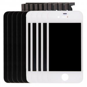 5 PCS Black + 5 PCS Blanc iPartsAcheter 3 en 1 pour iPhone 4S (LCD + Frame + Touch Pad) Assemblage de numériseur S502FF1202-20