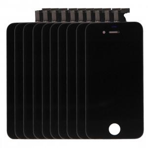10 PCS iPartsAcheter 3 en 1 pour iPhone 4S (LCD + Frame + Touch Pad) Assembleur de numériseur (Noir) S117BT1257-20
