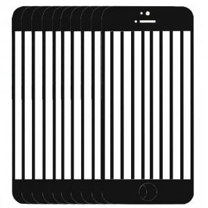 10 PCS iPartsAcheter pour l'écran avant de l'iPhone 5C verre extérieur (noir) S192BT728-20