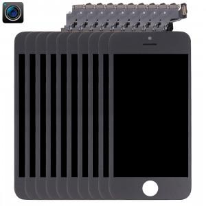 10 PCS iPartsAcheter 4 en 1 pour iPhone 5C (Caméra + LCD + Cadre + Touch Pad) Digitizer Assemblée (Noir) S191BT26-20