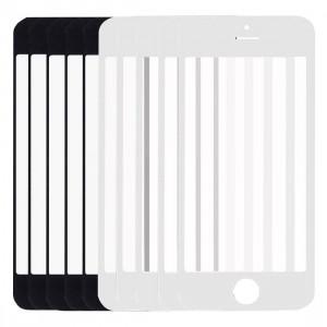 5 PCS Noir + 5 PCS Blanc iPartsAcheter pour iPhone 5 et 5S Front Screen Lentille extérieure en verre S529FF268-20