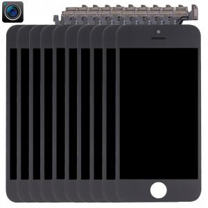 10 PCS iPartsAcheter 4 en 1 pour iPhone 5 (caméra frontale + LCD + cadre + pavé tactile) Assembleur de numériseur (noir) S190BT1351-20