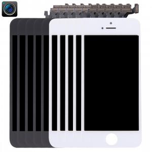 5 PCS Noir + 5 PCS Blanc iPartsAcheter 4 en 1 pour iPhone 5 (Caméra Frontale + LCD + Cadre + Pavé Tactile) Digitizer Assembly S591FF920-20