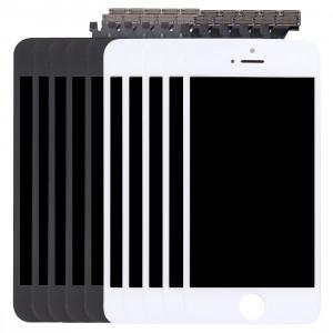 5 PCS Black + 5 PCS Blanc iPartsAcheter 3 en 1 pour iPhone 5 (LCD + Frame + Touch Pad) Assemblage de numériseur S505FF37-20