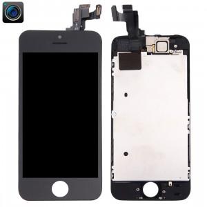iPartsBuy 4 en 1 pour iPhone 5s (caméra frontale + LCD + cadre + pavé tactile) Assembleur de numériseur (noir) SI002B467-20