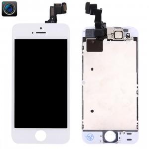 iPartsBuy 4 en 1 pour iPhone 5s (caméra frontale + LCD + cadre + pavé tactile) Assembleur de numériseur (blanc) SI002W478-20