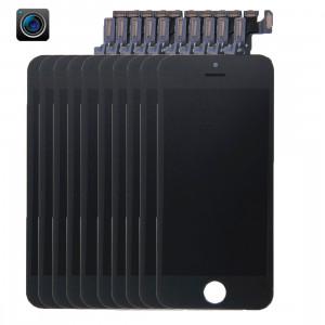 10 PCS iPartsAcheter 4 en 1 pour iPhone 5s (caméra frontale + LCD + cadre + pavé tactile) Assembleur de numériseur (noir) S192BT1985-20