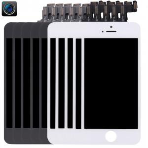 5 PCS Noir + 5 PCS Blanc iPartsAcheter 4 en 1 pour iPhone 5s (Caméra avant + LCD + Cadre + Touch Pad) Assemblage de numériseur S593FF60-20