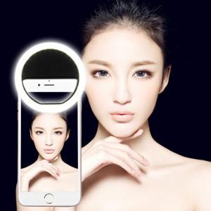 AA batterie Selfie Flash Light, pour iPhone, Galaxy, Huawei, Xiaomi, LG, HTC et autres téléphones intelligents avec clip réglable (noir) SH393B796-20