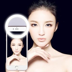 AA batterie Selfie Flash Light, pour iPhone, Galaxy, Huawei, Xiaomi, LG, HTC et autres téléphones intelligents avec clip réglable (blanc) SH393W514-20