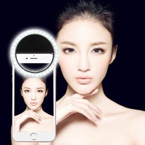 Chargeur Selfie Beauté Lumière, Pour iPhone, Galaxy, Huawei, Xiaomi, LG, HTC et autres téléphones intelligents avec clip réglable et câble USB (Noir) SH394B181-20