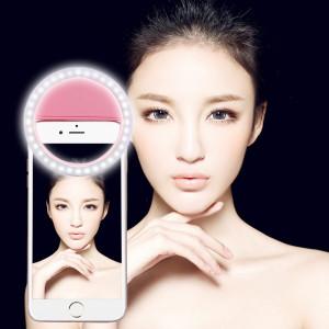 Chargeur Selfie Beauté Lumière, Pour iPhone, Galaxy, Huawei, Xiaomi, LG, HTC et autres téléphones intelligents avec clip réglable et câble USB (rose) SH394F1293-20