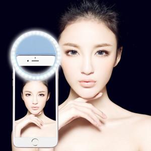 Chargeur Selfie Beauté Lumière, Pour iPhone, Galaxy, Huawei, Xiaomi, LG, HTC et autres téléphones intelligents avec clip réglable et câble USB (Bleu) SH394L1846-20