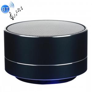 Mini haut-parleur stéréo portable Bluetooth A10, avec micro et LED intégrés, prise en charge des appels mains libres et carte TF, Bluetooth Distance: 10 m (noir) SH350B1560-20