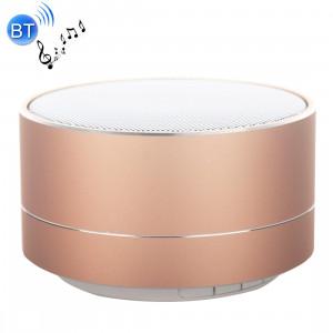 A10 Mini haut-parleur stéréo portable Bluetooth, avec micro et LED intégrés, prise en charge des appels mains libres et carte TF, Bluetooth Distance: 10 m (or) SH350J1865-20