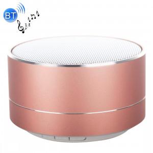 Mini haut-parleur stéréo portable Bluetooth A10, avec micro et LED intégrés, prise en charge des appels mains libres et carte TF, Bluetooth Distance: 10 m (or rose) SH50RG1369-20